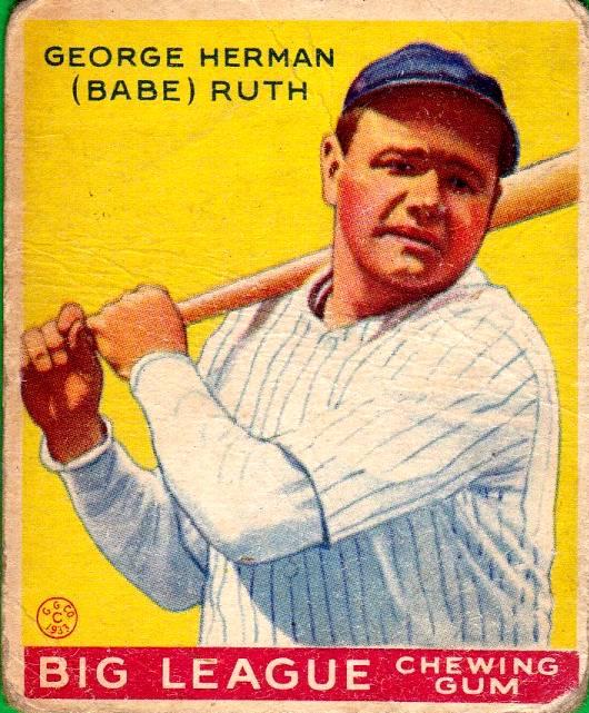 Vintage Babe Ruth Baseball Card
