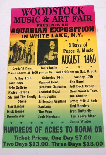 concert poster - Woodstock 1969
