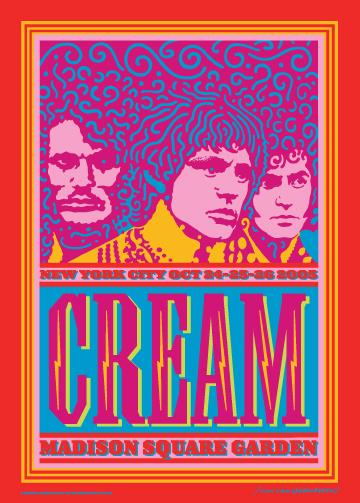 Cream   -  Concert Poster  - Eric Clapton - Ginger Baker  - Jack Bruce