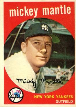 Baseball Card Collecting - Mickey Mantle  Baseball Card 1959