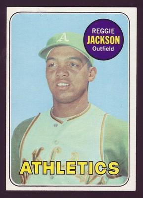 Reggie Jackson Baseball Card Topps 1969