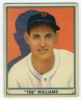 Ted Williams Baseball card 1941