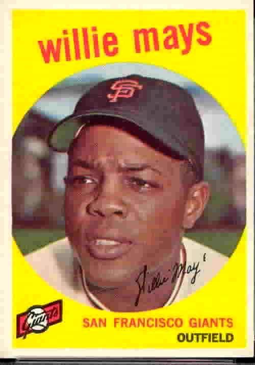 Willie Mays Baseball Card 1959 TOPPS baseball card collecting