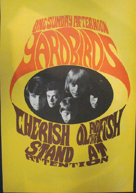 YARDBIRDS 1967 ORIGINAL PROMO POSTER JEFF BECK PSYCH