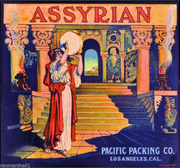 collectibles from the past   Assyrian Fruit Crate Label     collectible    vintage collectibles