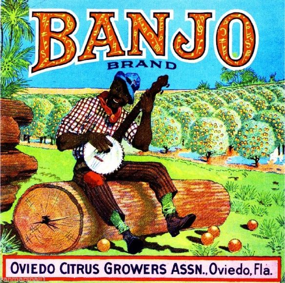 collectibles form the past      Banjo Fruit Crate Label    collectible   vintage collectible