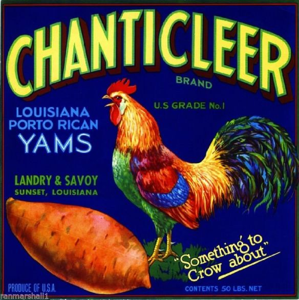 collectibles from the past    Chanticleer Crate Label     collectible    vintage collectibles
