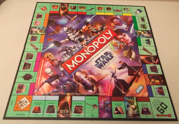 game collection  monopoly  board games   Star Wars Monopoly Clone Wars Edition Game Board    collecting games    collectibles from the past    star wars   game board